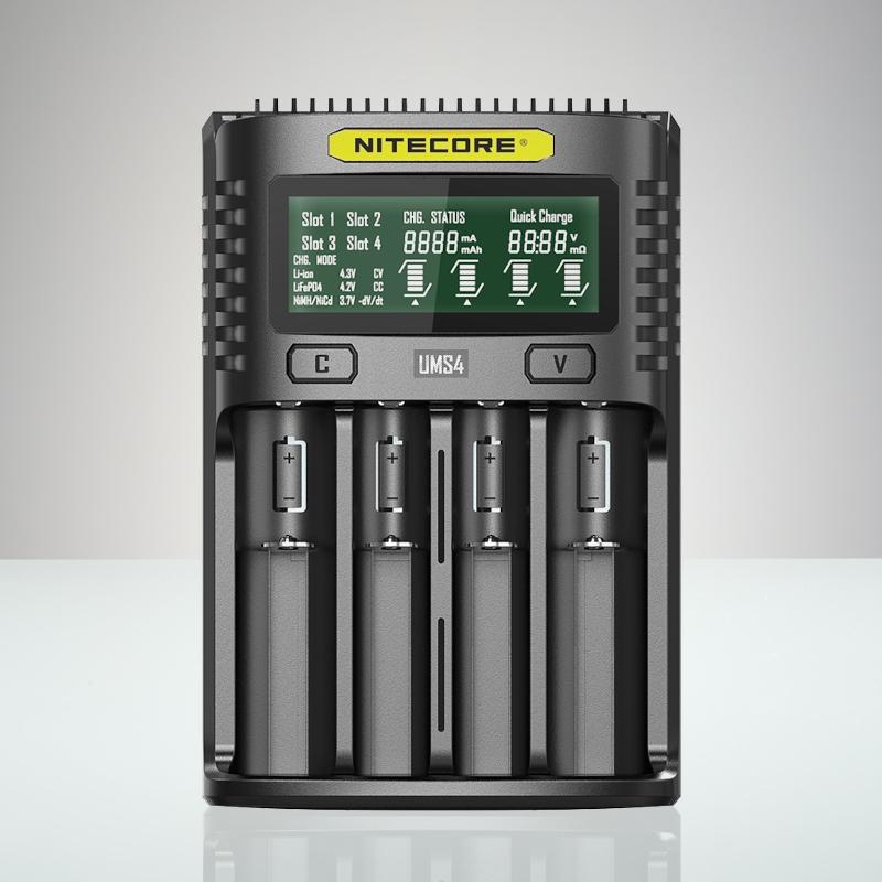 Nitecore UMS4 - USB Universalladdare för 4 batterier