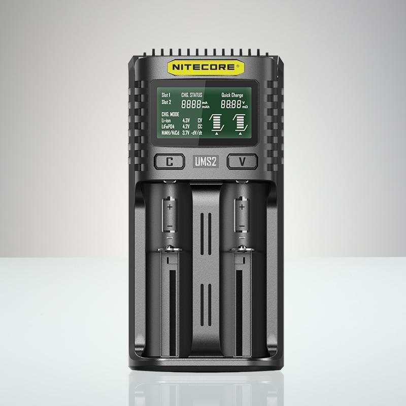 Nitecore UMS2 - USB Universalladdare för 2 batterier